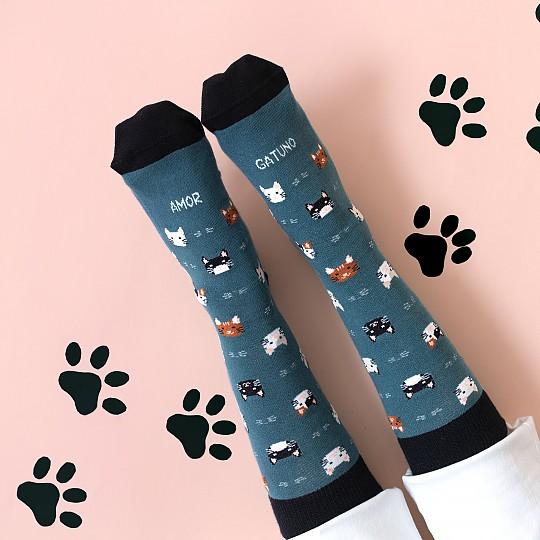 Calcetines para amantes de los gatos