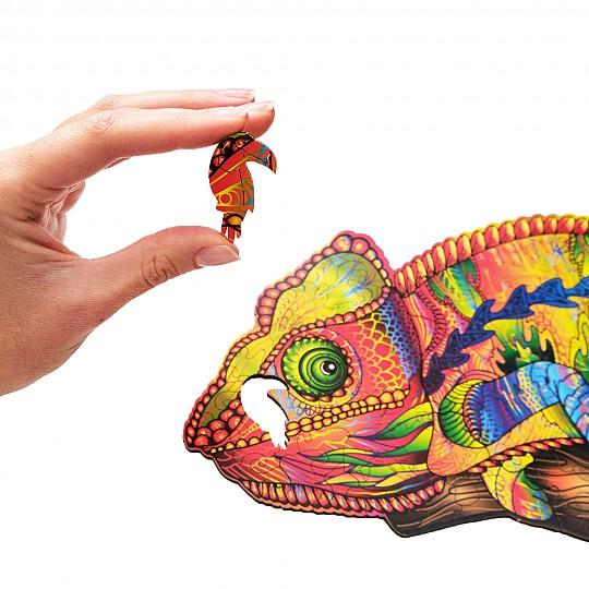Puzzles de madera con forma de animales coloridos