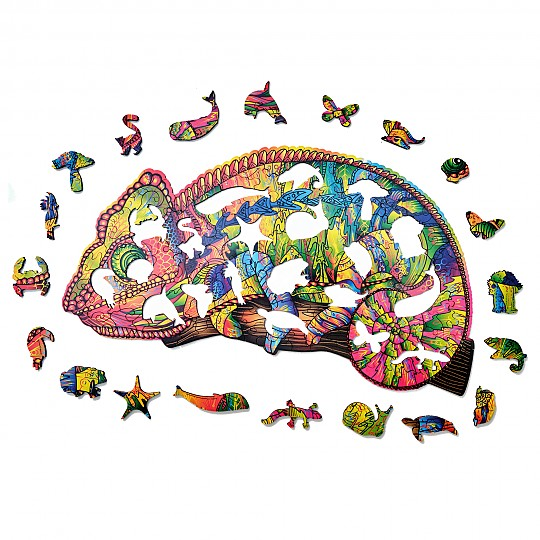 Las piezas que lo forman son diferentes animales