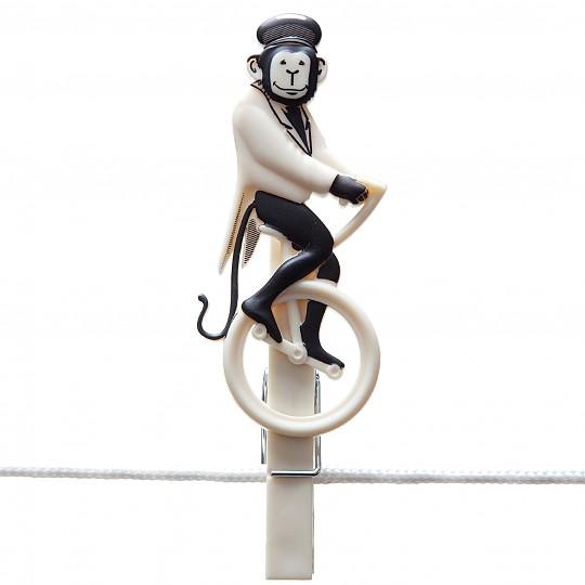 El chimpancé sobre monociclo