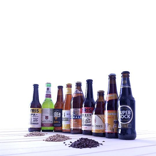 Pack de nueve cervezas de nueve estilos diferentes