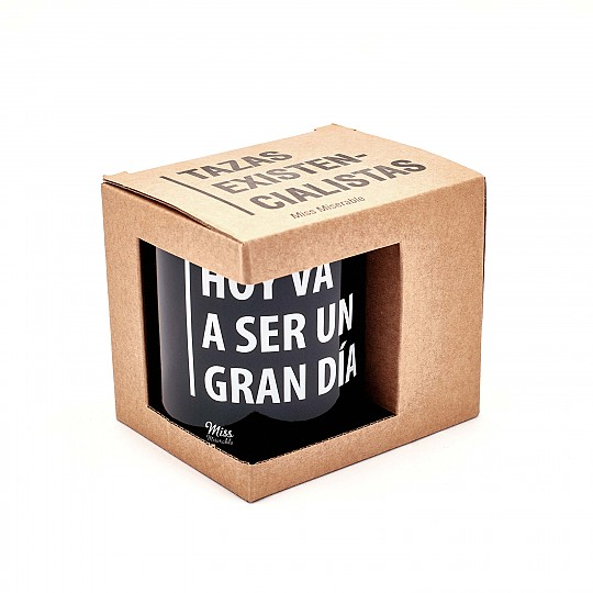 Embalada en una caja de cartón natural