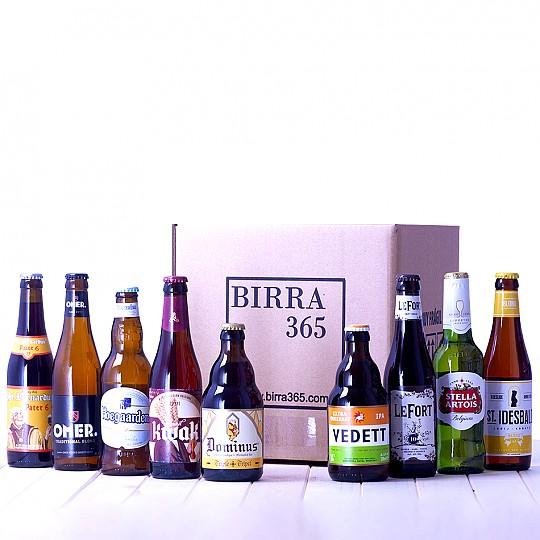 Pack de nueve botellines de cervezas Belgas