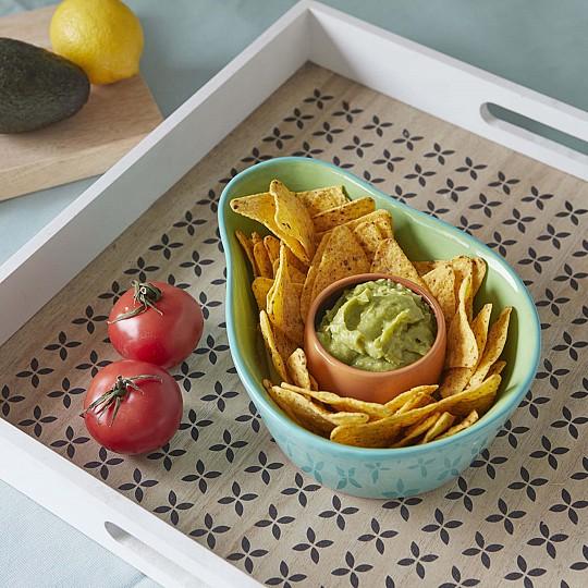 Perfecto para servir nachos y guacamole