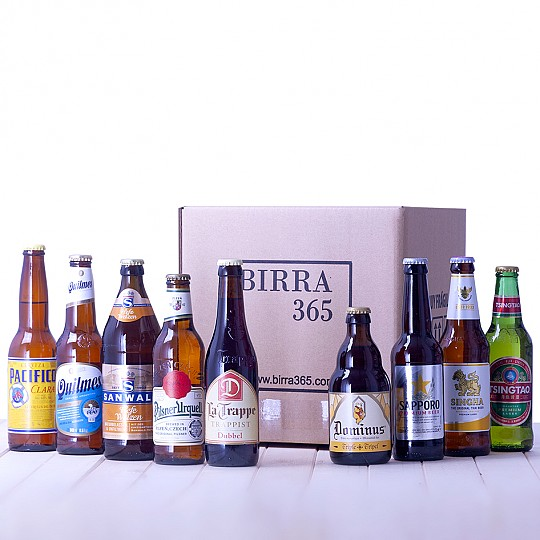 Un pack con nueve cervezas del mundo