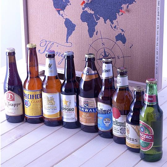 Incluye cervezas de Asia, América y Europa