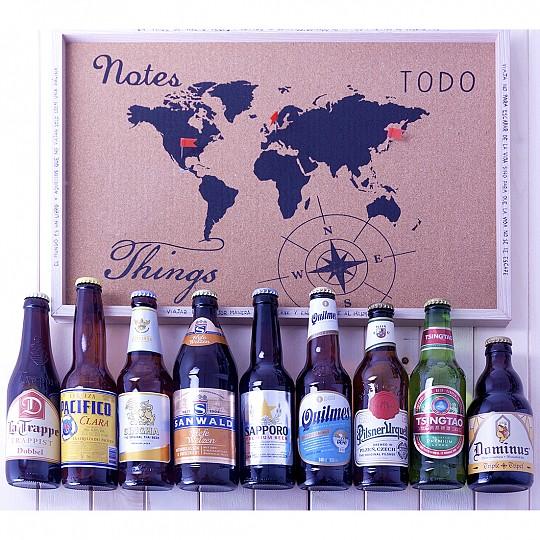 Y un librito con información de cada cerveza
