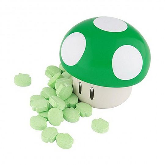 Los caramelos tienen forma de seta, los verdes sabor manzana ácida