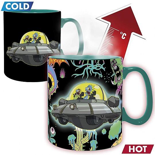 Taza de Rick y Morty que cambia con el calor