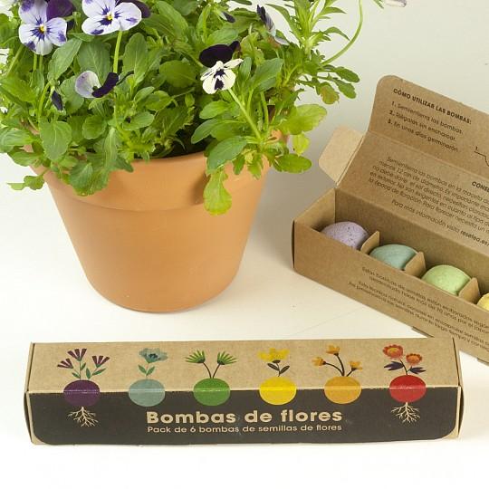 Pack de seis bombas de semillas de flores