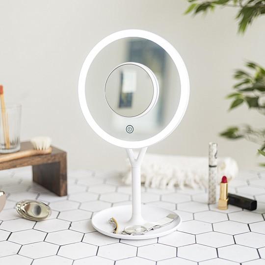 Espejo con luz LED regulable