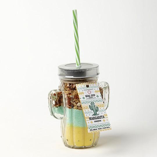 Jarra con forma de cactus con mezcla para cocktail Margarita