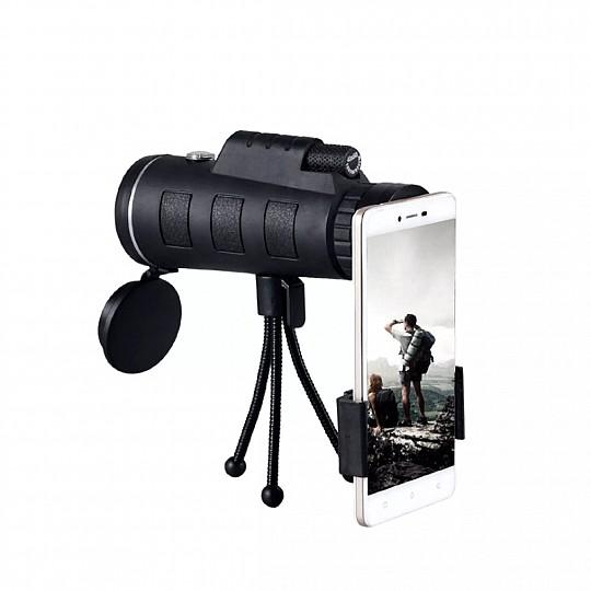 Incluye trípode, soporte ajustable para smartphone y funda