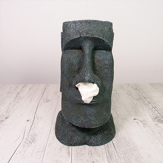 Este Moai te dispensará pañuelos por la nariz