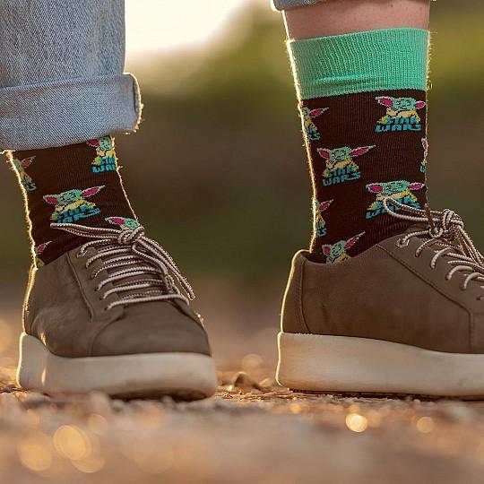 Tres pares de calcetines con diferentes estampados