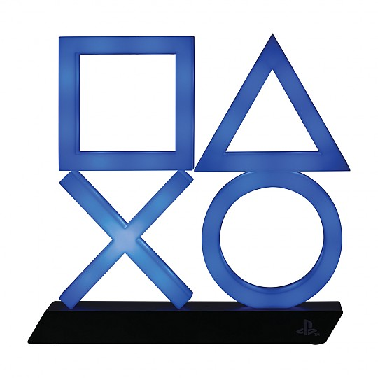 Los icónicos símbolos se iluminan en color azul