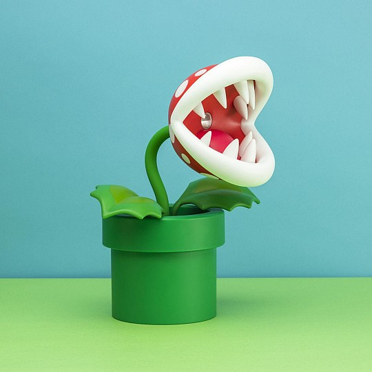 Lámpara Super Mario con forma de Planta Piraña