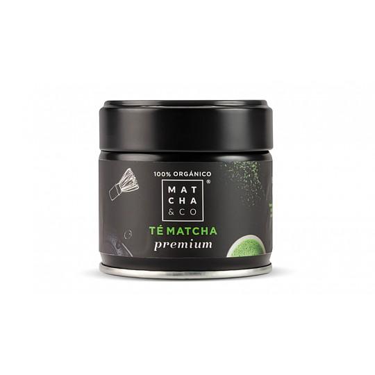 Tarro de 30 g de té matcha ecológico premium
