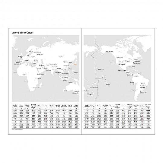 Mapa con husos horarios