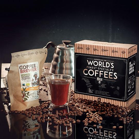Una caja de regalo con 5 de los mejores cafés del mundo