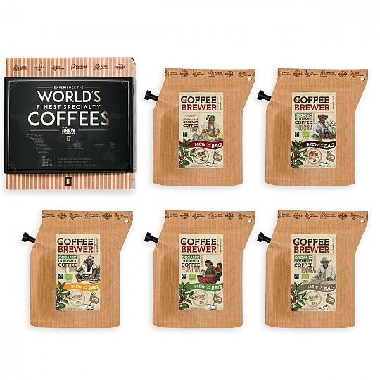 Vienen en bolsitas reutilizables que sirven para preparar el café dentro de ellas vertiendo agua caliente