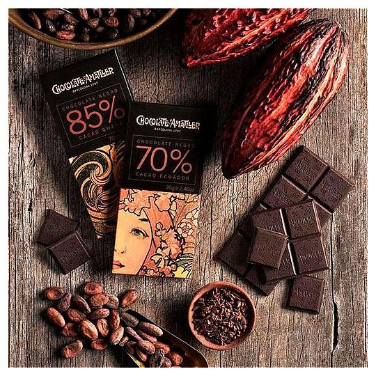 Viene con 4 tabletas de chocolate de Ghana y Ecuador