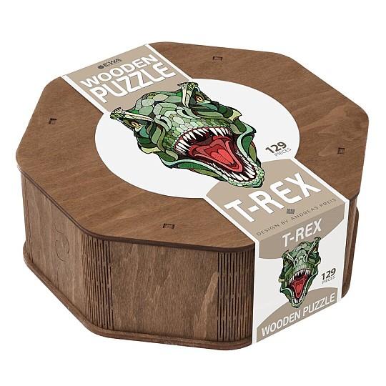 Puzzle de madera con forma de T-Rex