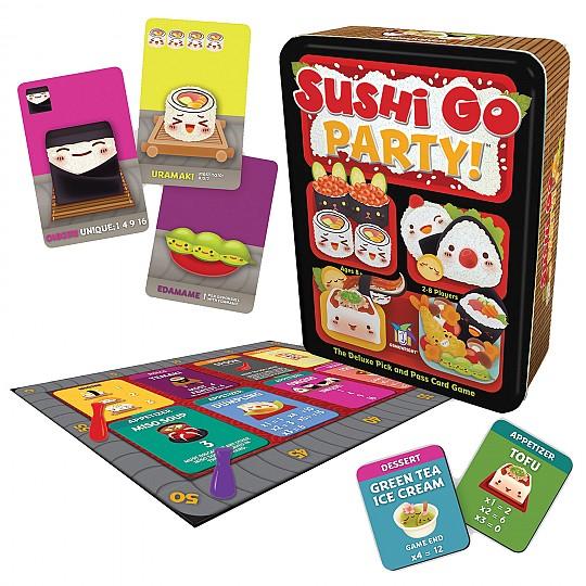 El Sushi Go Party! viene con 20 cartas más que el clásico Sushi Go!