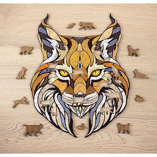 El puzzle de lince tiene 139 piezas con forma de felinos