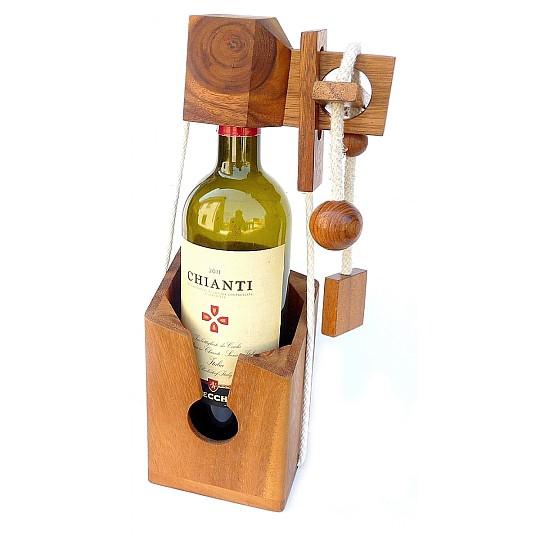 Un rompecabezas para encerrar botellas de vino