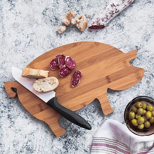 Una tabla de cocina con forma de cerdo muy divertida