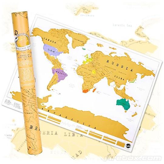 El Scratch Map te ayudará a marcar tu ruta viajera