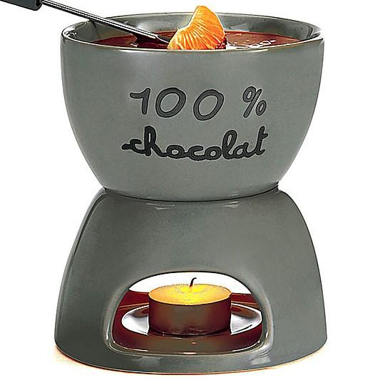 Una fondue de chocolate de diseño