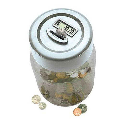 Digital counting euro jar