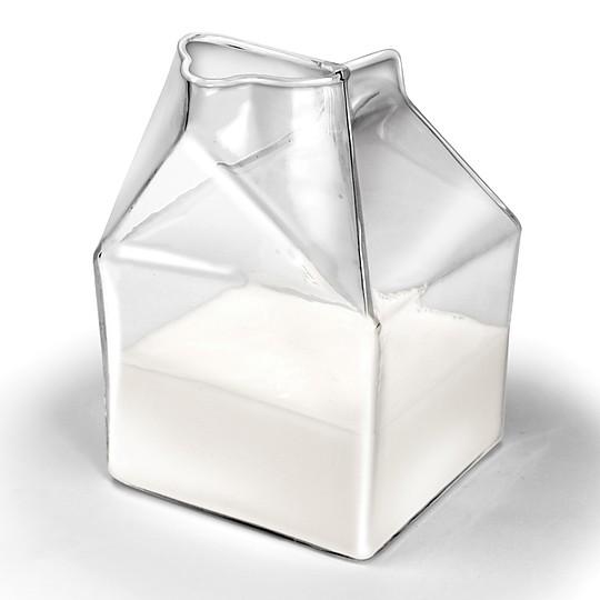 Jarra de leche tetra brik de cristal for Jarra leche