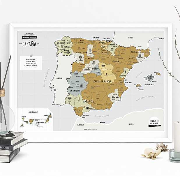 Mapa De España Bonito.Mapa De Espana Para Rascar