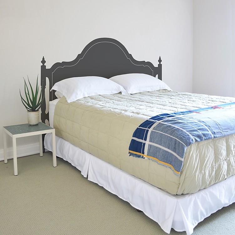 Vinilos adhesivos cabecero de cama olivia for Vinilo cabecero cama
