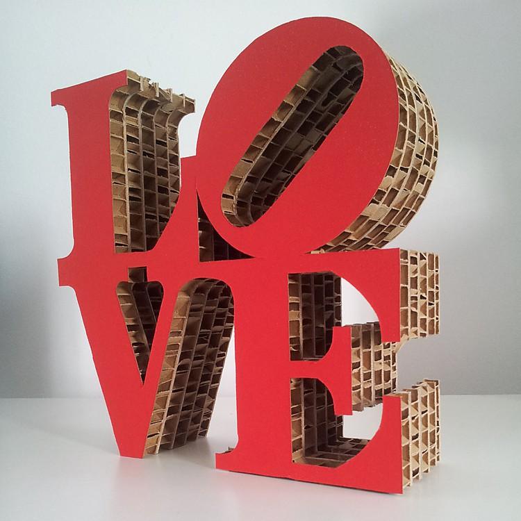 Mini escultura en cart n love - Cosas hechas a mano para vender ...