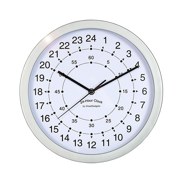 Reloj de pared 24 horas for Piscina 24 horas madrid