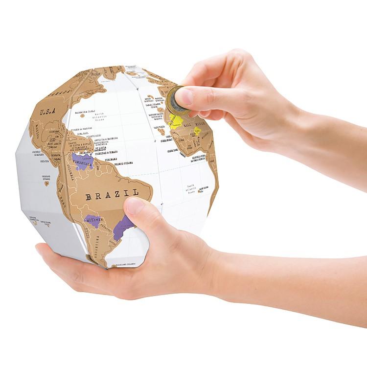 Globo terr queo de rascar - Globe terrestre en carton ...