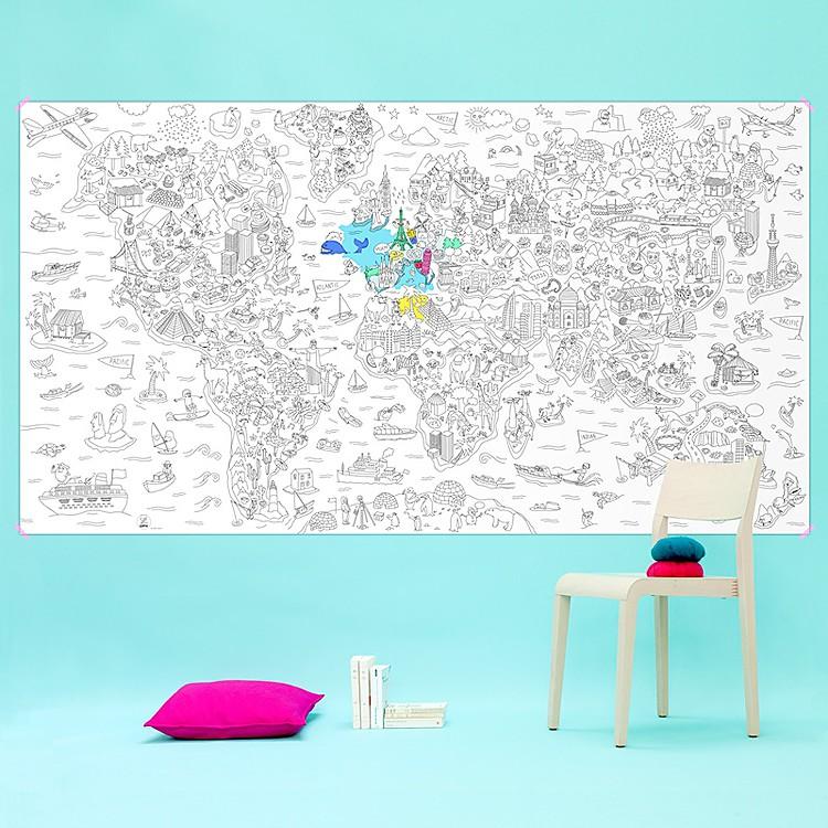Póster para Colorear Gigante Atlas