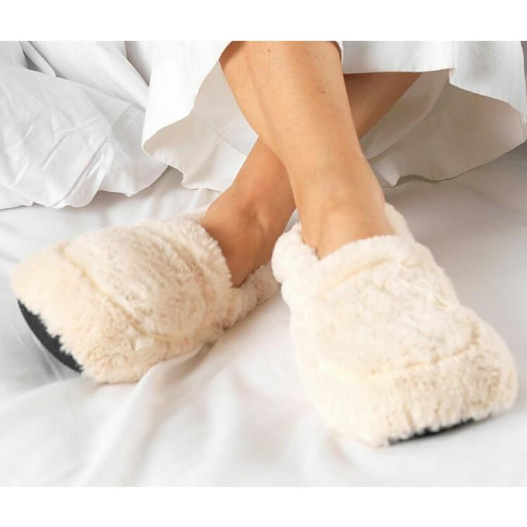 2883513bafae4 Zapatillas para calentar en el microondas color crema