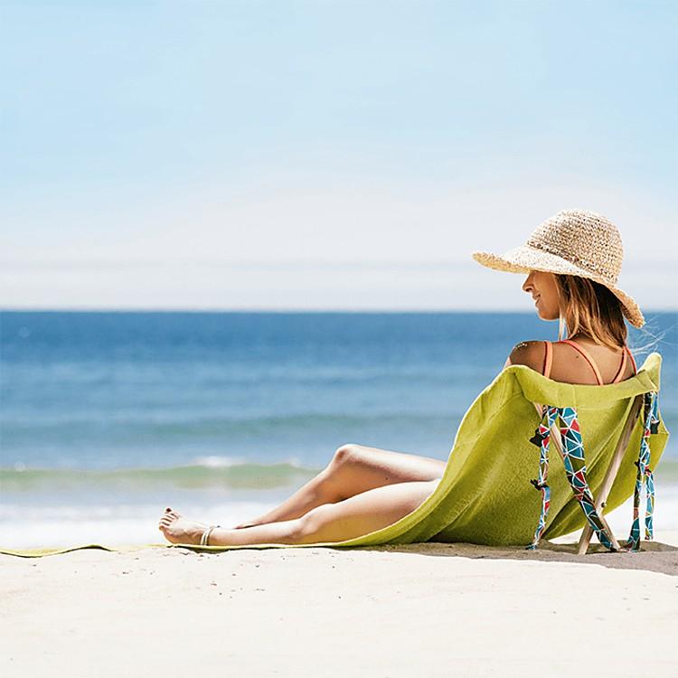 Toalla silla de playa olive geometric - Toallas de playa originales ...