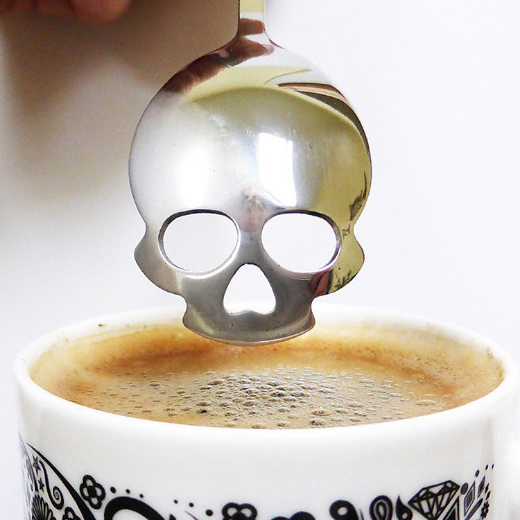 Cuchara de caf calavera for Cuchara de cafe