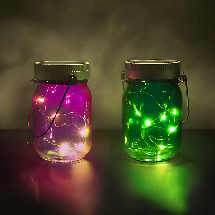 tarros luminosos fairy jars. Black Bedroom Furniture Sets. Home Design Ideas