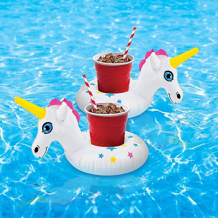 Flotadores para bebidas unicornios for Flotadores para piscinas