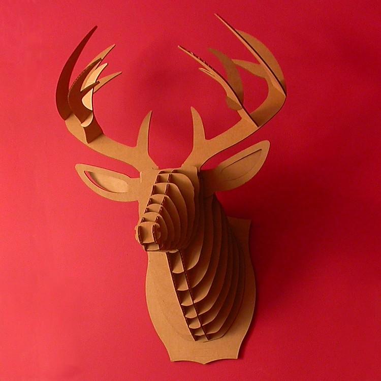 Cabeza de ciervo de cart n mediana buck jr - Cabeza ciervo carton ...