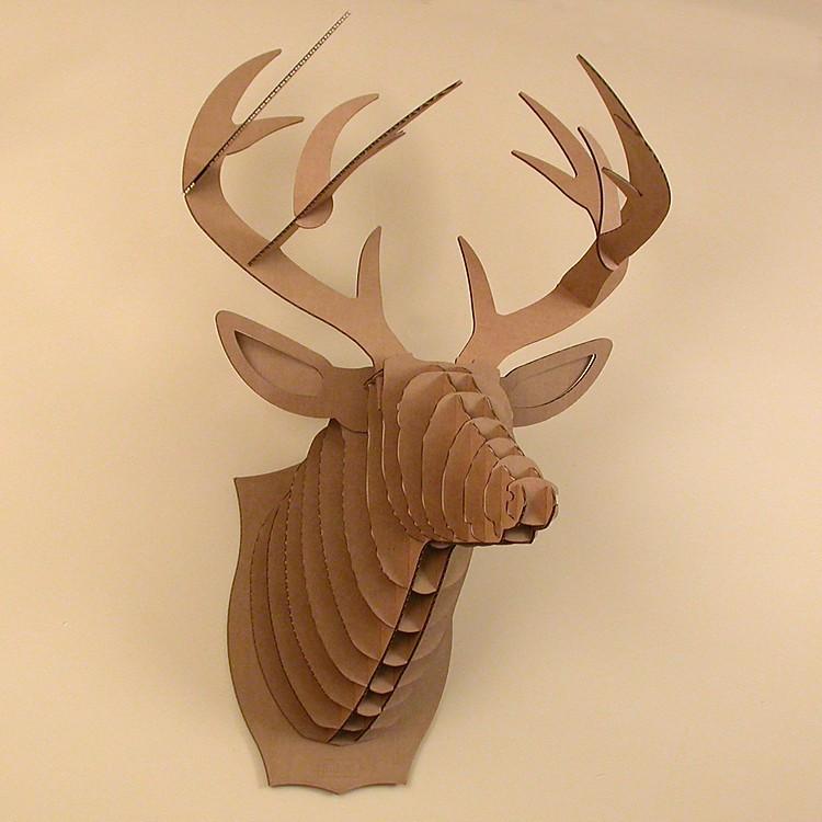 Cabeza de ciervo de cart n grande bucky - Cabezas de animales decoracion ...