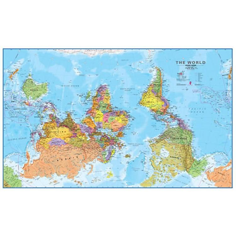 Mapamundi \'El Mundo Al Revés\'