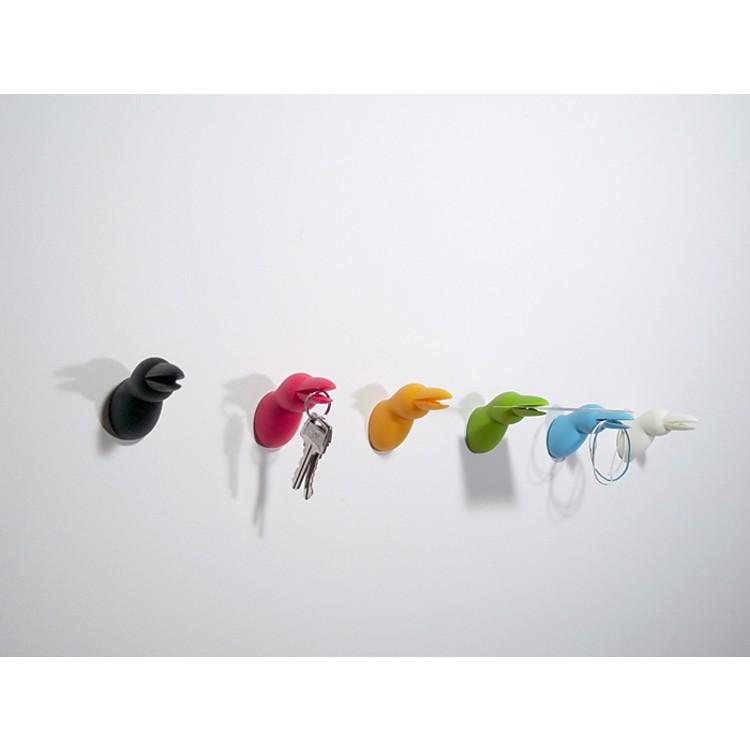 Colgador de llaves cabeza de p jaro for Colgador de pared para ropa